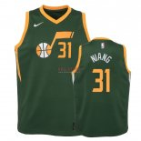 Divise Basket Personalizzate NBA Bambino Earned Edition Utah Jazz NO.31 Georges Niang Verde 2018-19