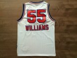 Divise Basket Personalizzate NBA Sacramento Kings NO.55 Jason Williams Retro Bianco