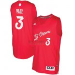Divise Basket Personalizzate NBA L.A.Clippers 2016 Natale NO.3 Chris Paul Rosso