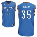 Divise Basket Personalizzate NBA Oklahoma City Thunder NO.35 Kevin Durant Blu