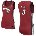 Divise Basket Personalizzate NBA Donna Miami Heat NO.3 Dwyane Wadet Rosso