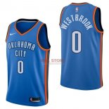 Divise Basket Personalizzate NBA Oklahoma City Thunder NO.0 Russell Westbrook Blu Icon 2017/2018