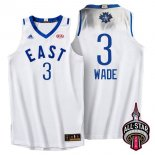 Divise Basket Personalizzate NBA 2016 All Star NO.3 Dwyane Wade Bianco