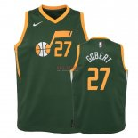 Divise Basket Personalizzate NBA Bambino Earned Edition Utah Jazz NO.27 Rudy Gobert Verde 2018-19