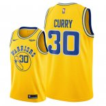 Divise Basket Personalizzate NBA Golden State Warriors NO.30 Stephen Curry Giallo Città 2018/2019