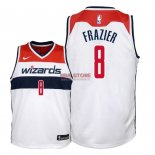 Divise Basket Personalizzate NBA Bambino Washington Wizards NO.8 Tim Frazier Bianco Association 2018
