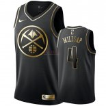 Divise Basket Personalizzate NBA Nike Denver Nuggets NO.4 Paul Millsap Oro Edition