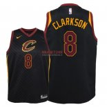 Divise Basket Personalizzate NBA Bambino Cleveland Cavaliers NO.8 Jordan Clarkson Nero Statement 2018