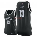Divise Basket Personalizzate NBA Donna Brooklyn Nets NO.13 Quincy Acy Nero Icon 2018