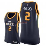 Divise Basket Personalizzate NBA Donna Utah Jazz NO.2 Joe Ingles Marino Icon 2018