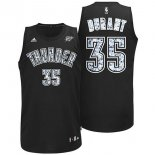 Divise Basket Personalizzate NBA Oklahoma City Thunder NO.35 Kevin Durant Nero Bianco