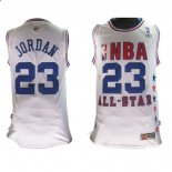 Divise Basket Personalizzate NBA 2003 All Star NO.23 Michael Jordan Bianco