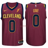 Divise Basket Personalizzate NBA Cleveland Cavaliers NO.0 Kevin Love Rosso 2017/2018