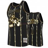 Divise Basket Personalizzate NBA Nike Toronto Raptors NO.1 Tracy McGrady Oro Edition