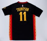 Divise Basket Personalizzate NBA Golden State Warriors Manica Corta NO.11 Klay Thompson Nero Rosso