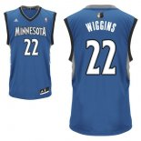 Divise Basket Personalizzate NBA Minnesota Timberwolves NO.22 Andrew Wiggins Blu