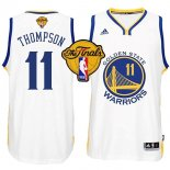 Divise Basket Personalizzate NBA Golden State Warriors Finale NO.11 Thompson Bianco