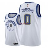 Divise Basket Personalizzate NBA Golden State Warriors NO.0 DeMarcus Cousins Nike Retro Bianco 2018