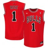 Divise Basket Personalizzate NBA Chicago Bulls NO.1 Derrick Rose Rosso