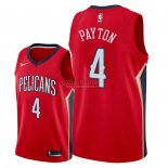 Divise Basket Personalizzate NBA New Orleans Pelicans NO.4 Elfrid Payton Rosso Statement 2018