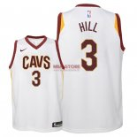 Divise Basket Personalizzate NBA Bambino Cleveland Cavaliers NO.3 George Hill Bianco Association 2018
