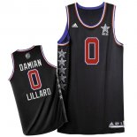 Divise Basket Personalizzate NBA 2015 All Star NO.0 Damian Lillard Nero
