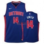 Divise Basket Personalizzate NBA Bambino Detroit Pistons NO.14 Ish Smith Azul Icon 2017/2018