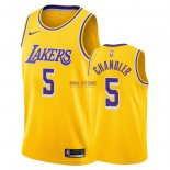 Divise Basket Personalizzate NBA L.A.Lakers NO.5 Tyson Chandler Giallo Icon 2018