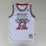 Divise Basket Personalizzate NBA 1992 All Star NO.23 Michael Jordan Bianco