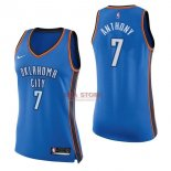 Divise Basket Personalizzate NBA Donna Oklahoma City Thunder NO.7 Carmelo Anthony Blu Icon 2017/2018