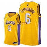 Divise Basket Personalizzate NBA L.A.Lakers NO.6 Lance Stephenson Giallo Icon 2018