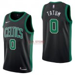 Divise Basket Personalizzate NBA Boston Celtics NO.0 Jayson Tatum Nero Statement 2017/2018
