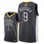 Divise Basket Personalizzate NBA Golden State Warriors 2018 Finale Campioni NO.9 Andre Iguodala Nero Statement Patch