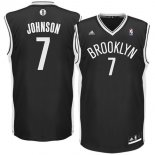 Divise Basket Personalizzate NBA Brooklyn Nets NO.7 Earvin Johnson Nero