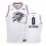 Divise Basket Personalizzate NBA Bambino 2019 All Star NO.0 Russell Westbrook Bianco