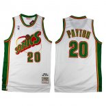 Divise Basket Personalizzate NBA Seattle Supersonics NO.20 Gary Payton Retro Bianco