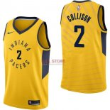 Divise Basket Personalizzate NBA Indiana Pacers NO.2 Darren Collison Giallo Statement 2017/2018