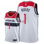 Divise Basket Personalizzate NBA Washington Wizards NO.1 Austin Rivers Bianco Association 2018