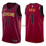Divise Basket Personalizzate NBA Cleveland Cavaliers NO.1 Derrick Rose Rosso Icon 2017/2018