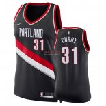 Divise Basket Personalizzate NBA Donna Portland Trail Blazers NO.31 Seth Curry Nero Icon 2018