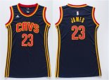 Divise Basket Personalizzate NBA Donna Cleveland Cavaliers NO.23 LeBron James Blu
