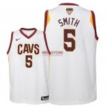 Divise Basket Personalizzate NBA Bambino Cleveland Cavaliers Finale Campioni 2018 NO.5 JR. Smith Bianco Association Patch
