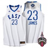 Divise Basket Personalizzate NBA 2016 All Star NO.23 LeBron James Bianco