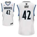 Divise Basket Personalizzate NBA Minnesota Timberwolves NO.42 Kevin Love Bianco