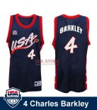Divise Basket Personalizzate NBA 1996 NBA USA Charles Barkley NO.4 Nero