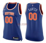 Divise Basket Personalizzate NBA Donna New York Knicks NO.0 Enes Kanter Blu Icon 2017/2018
