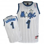 Divise Basket Personalizzate NBA Orlando Magic NO.1 Anfernee Hardaway Bianco