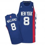 Divise Basket Personalizzate NBA Brooklyn Nets ABA NO.8 Willams Blu