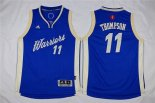 Divise Basket Personalizzate NBA Bambino 2015 Natale Golden State Warriors NO.11 Klay Thompson Blu