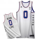 Divise Basket Personalizzate NBA 2015 All Star NO.0 Kevin Love Bianco
